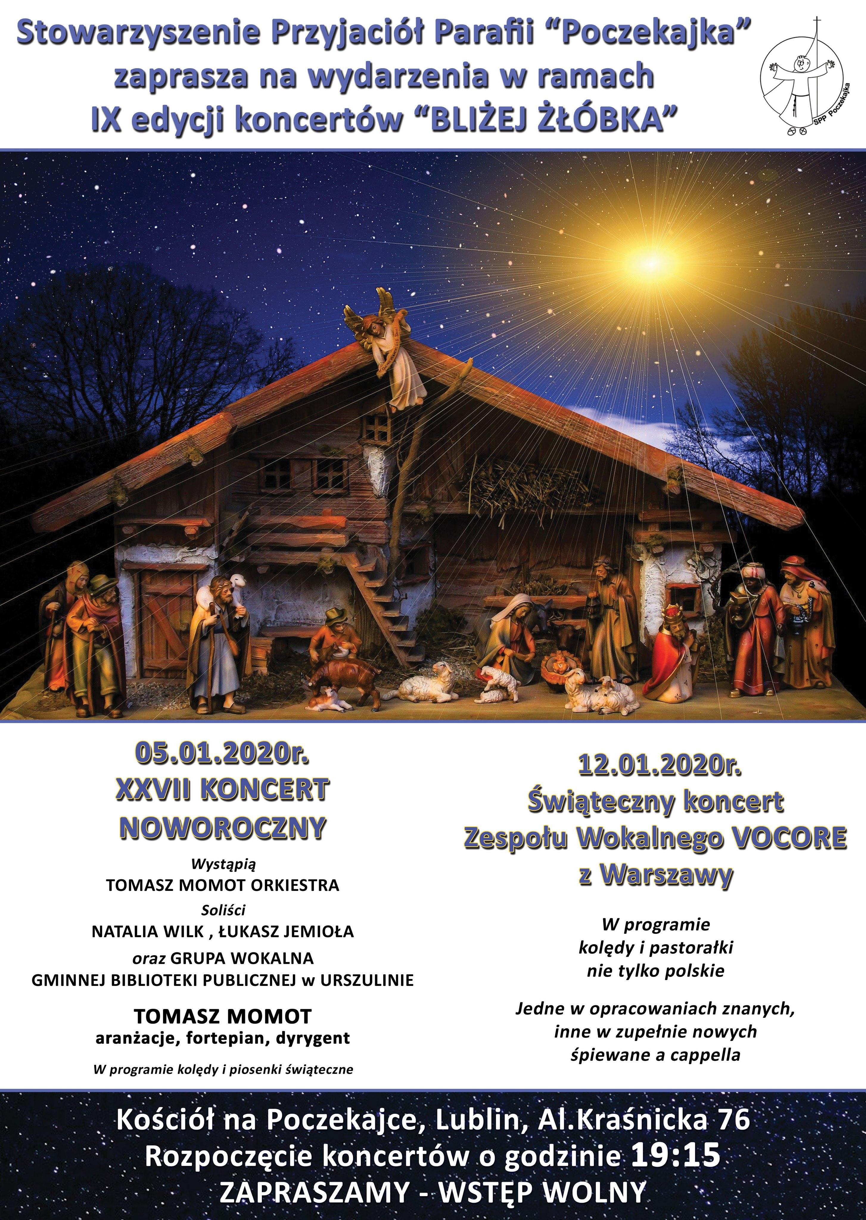 """IX edycja Koncertów """"Bliżej żłóbka"""" na Poczekajce"""