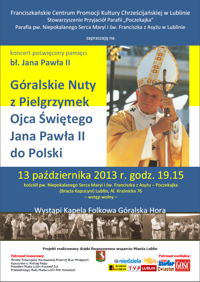 Zapraszamuy na Koncert Papieski