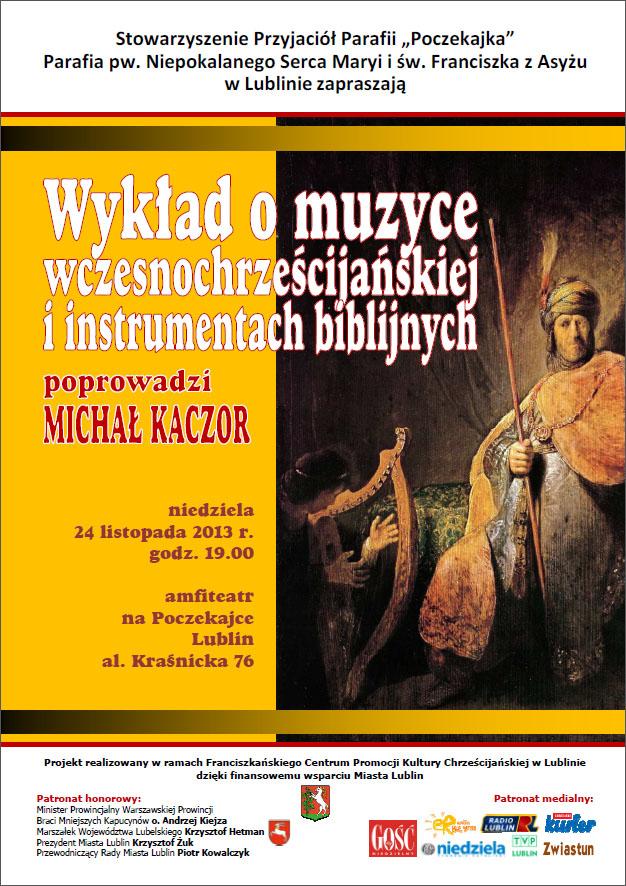 Wykład na temat instrumentów biblijnych i muzyki wczesnochrześcijańskiej
