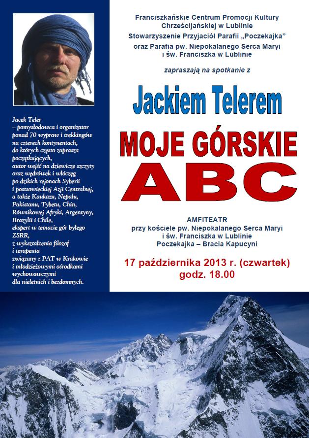 """""""Moje górskie ABC"""" spotkanie z himalaistą Jackiem Telerem"""