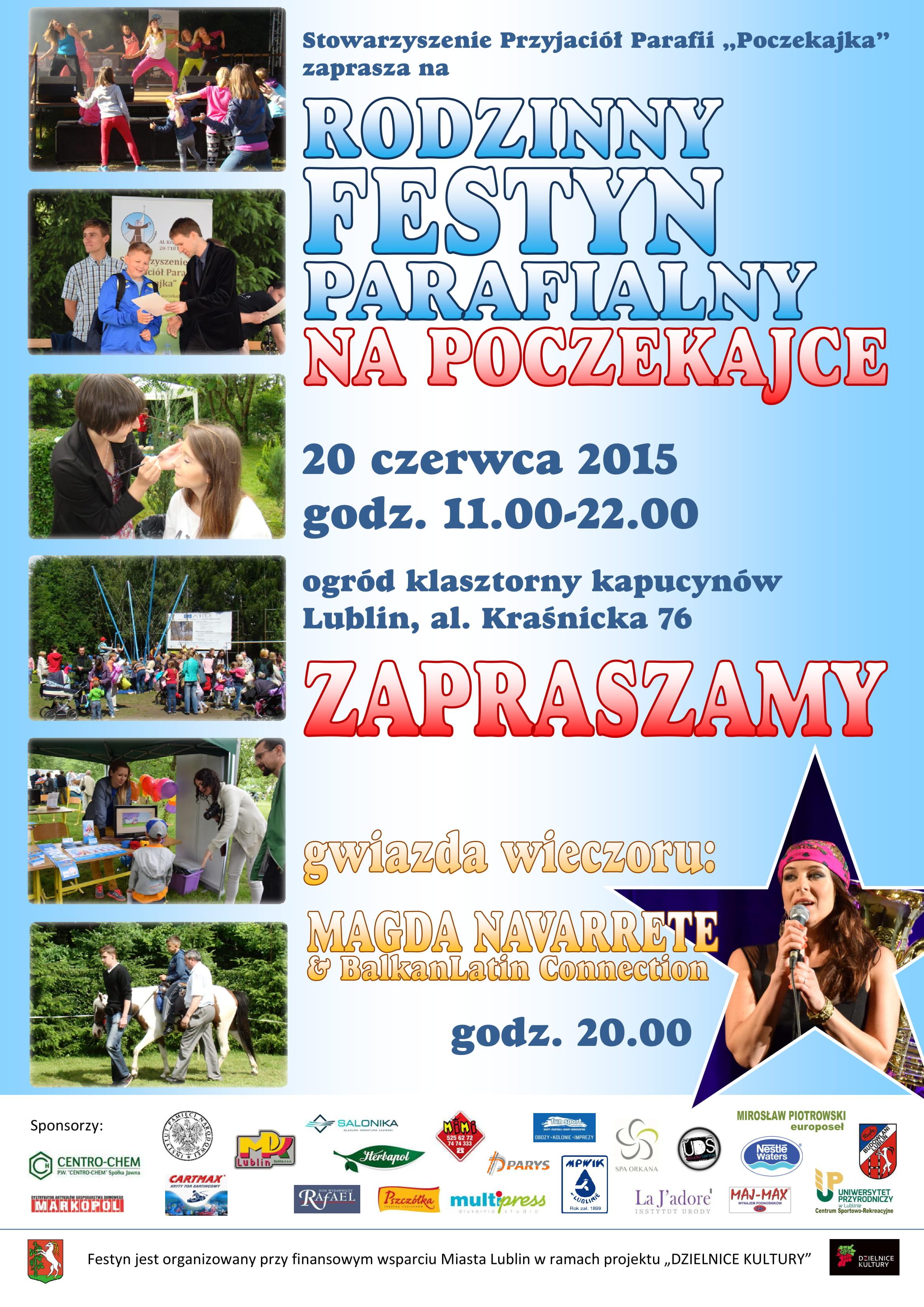 Zapraszamy na Rodziny Festyn na Poczekajce 2015 r.