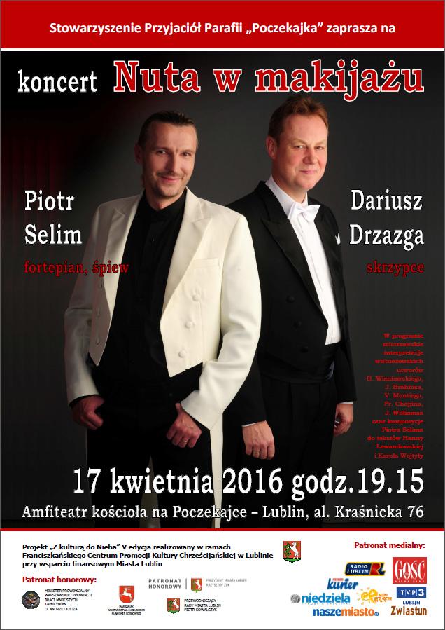 Koncert Nuta w makijażu z Piotrem Selimem na Poczekajce